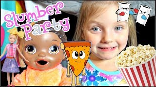 BABY ALIVE has a SLUMBER PARTY with MOMMY! The Lilly and Mommy Show. The TOYTASTIC Sisters