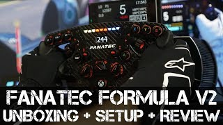 FANATEC ClubSport Formula V2 Wheel - Unboxing, Setup, Testing & Review