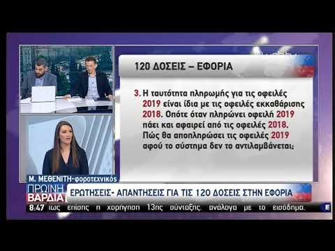 Ερωτήσεις και απαντήσεις για τις 120 δόσεις προς την εφορία   08/05/19   ΕΡΤ