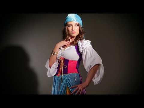 Wilbers 4382 Damen-Kostüm Gipsy, bunt