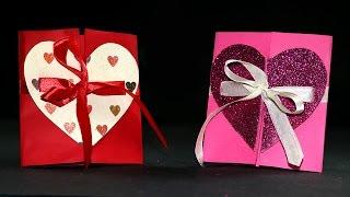 DIY Valentine Cards - Handmade Valentine Heart Card Tutorial