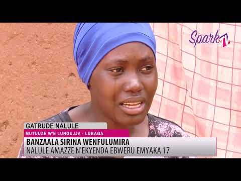 Omuwala ayafuluma ekyenda ali mu bulumi bwamanyi