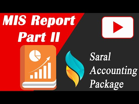MIS Report Part II | Narration wise reports | Sr No Find | Transport | Saral Accounting Package