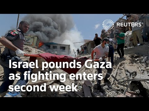 Israel pounds Gaza as fighting enters second week