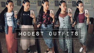MODEST LOOKBOOK | Back To School Outfits
