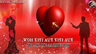 Woh kisi Aur se Milke || Bewafai Lyrics Sad Status   - YouTube