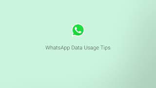 WhatsApp call data usage settings
