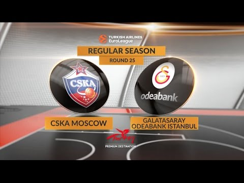 EuroLeague Highlights RS Round 25: CSKA Moscow 85-69 Galatasaray Odeabank Istanbul