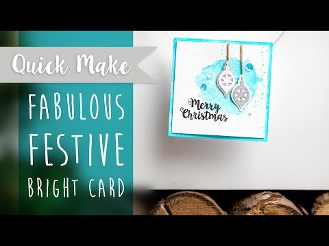 Fabulous Festive Bright Card - Sizzix
