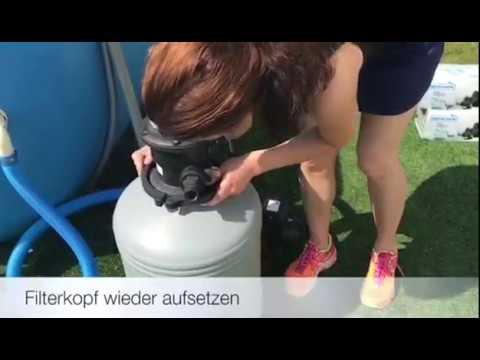 Wechsel des Filtermediums bei Filteranlage vom Pool: Wechsel von Sand auf Aqualoon