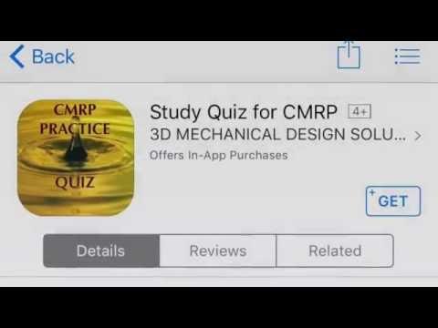 CMRP Exam Practice Quiz - Free Download - YouTube