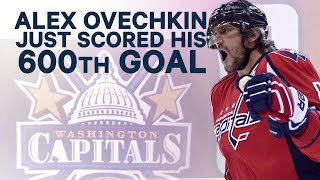 Ovechkin just hit 600 goals