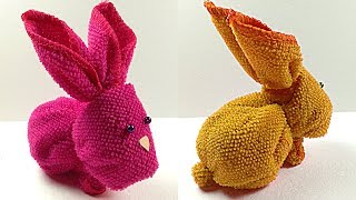 Easter Crafts: How To Make Easter Bunny 🐰 With A Towel And Paper DIY. Fun Easter Crafts For Kids