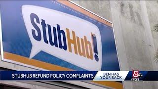 Did StubHub's changed ticket refund policy violate Massachusetts law?