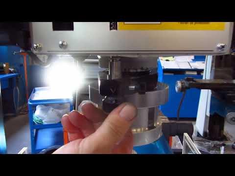 Gwinciarka SERRMAC MDR22 - ustawienie głębokości gwintowania - zdjęcie