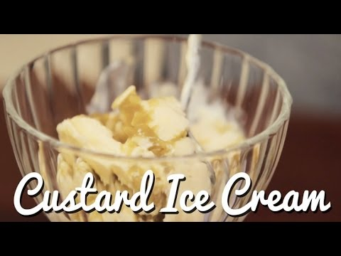 Video Easy Peasy Rhubarb & Custard Ice Cream - Crumbs