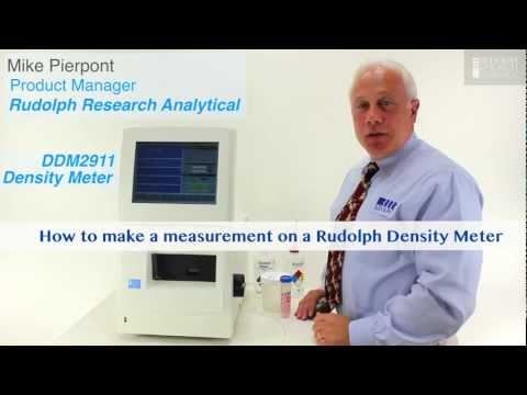 Making a Density Meter Measurement, Rudolph Research: DDM2911