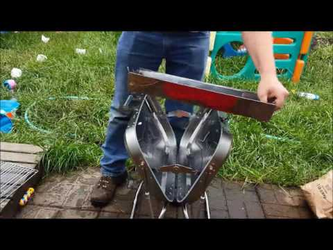 Yodo Portable Folding Camping Grill Charcoal Barbecue Grill Review, A VERY well designed folding gri