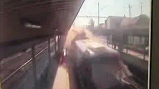 Nehoda Pendolina ve Studénce 22.7.2015 - záznam kamer
