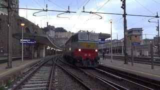 Treni storici 29087/29088 Milano C.le - La Spezia M.na  19 e 20 marzo 2016 con E646 158 ed E656 001