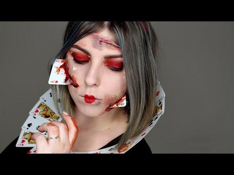 Krvavá Srdcová Královna Halloween Tutorial