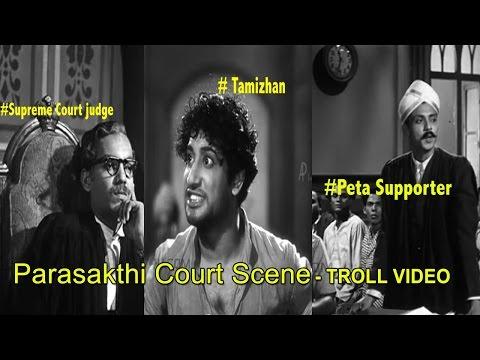 Jallikattu | Tamil Youngster's Argument For Justice - Parasakthi Court Scene Remake