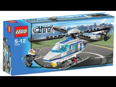 Lego City 7741 Instructions Police Helicopter Manual De