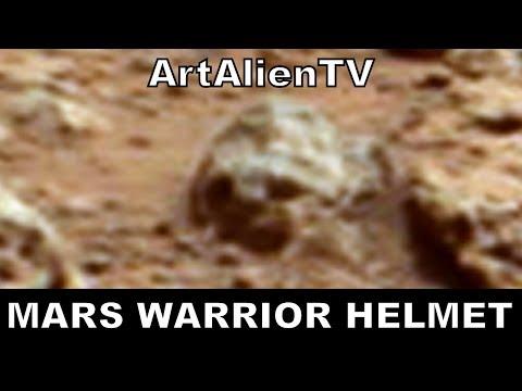 Mars Alien Mini Warrior Helmet: NASA Curiosity Rover Anomaly. ArtAlienTV – MARS ZOO 738p