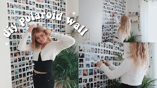 HOW TO MAKE A POLAROID WALL! | Diy Polaroid Wall