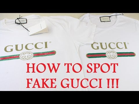 HOW TO SPOT A FAKE GUCCI T SHIRT | Authentic vs Replica Gucci Guide