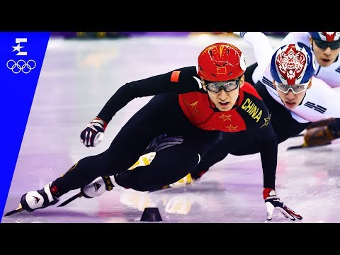 Short Track Speed Skating | Men's 500m Highlights | Pyeongchang 2018 | Eurosport
