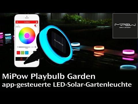MiPow Playbulb Garden - Die Solar-Gartenleuchte mit Appsteuerung