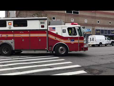 FDNY RESCUE 1, USING THE OLD SAULSBURY RESCUE 4 RIG, RESPONDING WITH SOME NICE AIR HORN ON 11TH AVE. Mp3