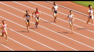 2016 8月1日  全国高校総体 岡山 インターハイ陸上 女子200m 予選3組