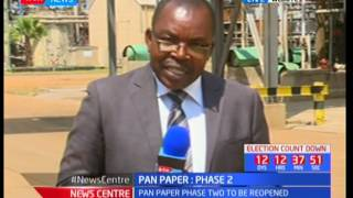 Second phase of the Pan Paper Mills set to be open in Webuye
