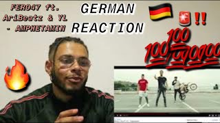 FERO47 Ft. AriBeatz & YL   AMPHETAMIN | GERMAN REACTION DAVE ANTHONY