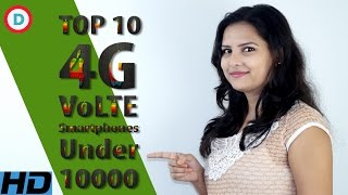 Top 10 Best 4G VoLTE Smartphones Under 10000 In Hindi  All Specifications & Features  Best For Jio