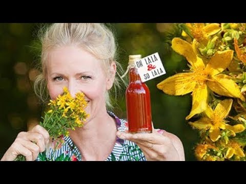 Gut für Haut & Seele * Johanniskrautöl DIY * Hilft bei Sonnenbrand & Insektenstich * Wellnessöl
