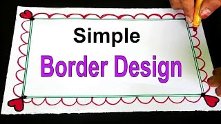 Simple Border Designs For Projects मफत ऑनलइन