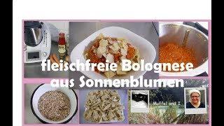 Bolognese aus Sonnenblumenkernen, fleischfreie Bolognese