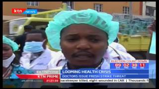 Doctors in Machakos and Kiambu have downed their tools to demand the implementation of the CBA