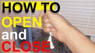 How to open and close window blinds.