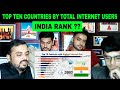 Pakistani Reaction on | Top 10 Countries by Total Internet Users (1990-2019) Includes Percentage