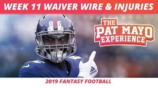 2019 Fantasy Football Rankings — Week 11 Waiver Wire, Injury Report, DraftKings Showdown, Spreads
