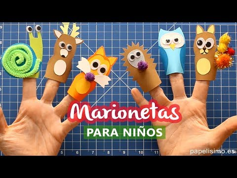 Cómo hacer marionetas de dedo para niños