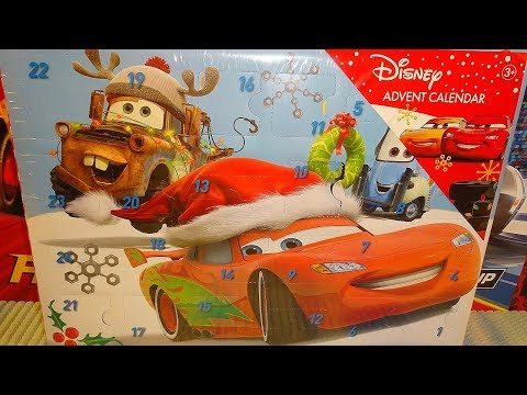 Disney Cars Advent Calendar For Christmas 2018 Unboxing