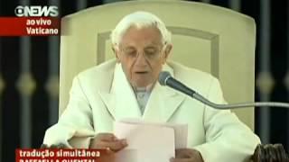 Último discurso do Papa Bento XVI
