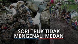 TERUNGKAP Penyebab Truk Bawa Susu Terjun ke Sungai di Sitinjau Lauik Padang
