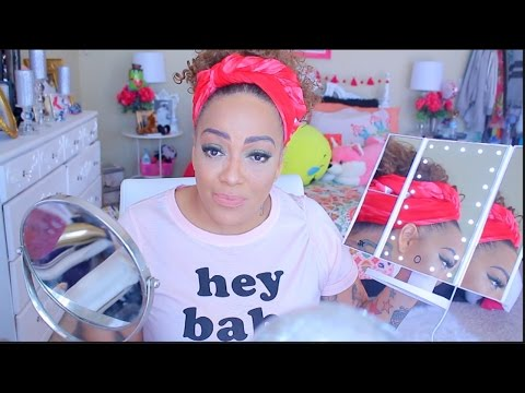MIRROR TESTING MAKEUP LOOK GRWM Chit Chat FINE LINES & Cake Face