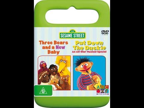 123 Sesame Street Home Video Three Bears And A New Baby/Put Down The Duckie Australian DVD